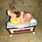 ROCKABYE BABY CERAMIC SALT  PEPPER COLLECTIBLE made in Japan