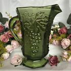 EUC Vintage Anchor Hocking - Light Green Glass Vineyard Grape Tuscan - Pitcher