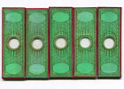 Five Victorian Paper-Covered Microscope Slides - Butterfly Scales
