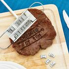 BBQ Barbecue Meat Steak Branding Iron Grill Tool Set Changeable Letter New  HL