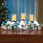 Christmas Tabletop Candle Holder Evergreen Centerpiece Xmas Gift Home Decoration