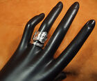 Floral by Paye and Baker Sterling bypass spoon ring hand made sz 6-61/2