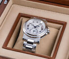 BREGUET MARINE DUAL TIME AUTOMATIC 5857ST/12/SZ0 MENS WATCH