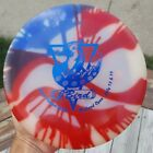 NEW Discraft Plastic Glo Nuke SS Distance Driver Tie Dye 171 g Red, White, Blue
