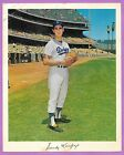 1960's SANDY KOUFAX DODGERS POSTER INSERT TEAM ISSUE w FAUX AUTO MEASURES 8x11