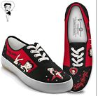 Betty Boop Movie Star Womens Canvas Sneakers With Heart Charm NWOB Size 95