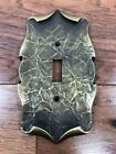 Vintage Amerock Carriage House Switch Plate Cover Antique Brass