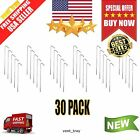 30 Pcs Metal Galvanized Steel Tent Pegs Garden Stakes Fence Tarp Outdoor Camping