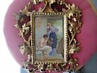 Antique  Porcelain Portrait Plaque
