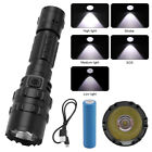 6000LM XM-L L2 LED Tactical&Military USB Flashlight Light Lamp 18650 Spotlight