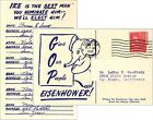 1952 San Jose California Dwight Eisenhower Republican Nomination Postcard (4641)