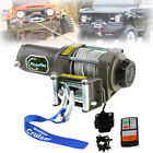 High Power 3500LB ATV Winch UTV 12V Electric Winch Remote Waterproof Steel Cable