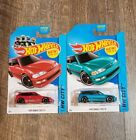 2014 HOT WHEELS HW CITY 1990 HONDA CIVIC EF Red  Teal Blue Lot of 2 30 250