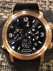 Léman Réveil GMT Anniversaire 18KT ROSE GOLD BLACK DIAL (EXTRA STRAP) BOX/PAPERS