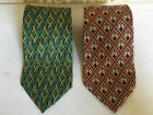 Vintage 2 PAOLO GUCCI Silk Red Green Neck Ties