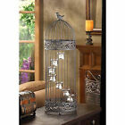 Large black 28 tall decorative Accent Bird Cage statue candelabra Candle Holder