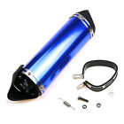 38mm Motorcycle Silence Exhaust Muffler Pipe Blue Motocross Clamp For 125cc150cc