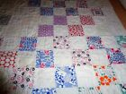 Vintage 1930's Feedsack Patchwork Crib Child's Quilt
