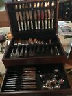 CHRISTOFLE MALMAISON SILVER PLATED. Full set of service for 12 plus other pieces