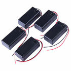 5 Five 9V DC Cell Battery Box Holder with on off switch w 6 inch Leads for