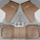 Motor Trend Spill Capturing Rubber Car Floor Mats for All Weather Heavy Duty Set