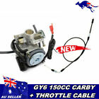 Carburetor Throttle Cable GY6 150 150cc Chinese China Scooter Moped Carb
