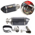 Universal Black Moped Scooter Exhaust Muffler Pipe + Removable DB Silencer Can