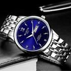 Men's Watches Business Quartz Date Week Display Full Stainless Steel Wristwatch