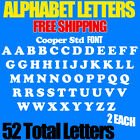 Alphabet Letters Cooper Std Font ALL SIZES 3 4 to 5 FREE SHIP STICKERS Decals