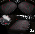 2x Auto Seat Cover Front Cushion Black PU+Red Line Universal In Car Accessories