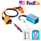 US Racing CDI 5 Pin + Ignition Coil + Spark Plug for 50-160cc ATV Quad Dirt Bike