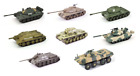 Set of 8 Russian Military Vehicles 172 SCALE DIECAST TANK WAR USSR ref E2
