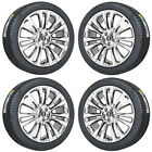 21 LINCOLN MKX PVD CHROME WHEELS RIMS TIRES FACTORY OEM 2016 2017 2018 4 10077