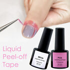 Liquid Peel off Tape Gel Lacquer Accessories Nail Art Glue PINK or WHITE