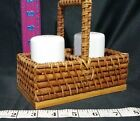 Salt And Pepper Shakers Set Country Basket and Ceramic