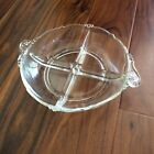 Vintage Glass Serving Dish Clear Glass Divided Relish Dish Relish Tray Plate