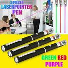 3PC Red Green Blue Laser Pointer Pen 650 523 405nm Mini AAA Lazer Visible Beam