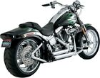 Shortshots Staggered Chrome Full Exhaust VaH 17221 86 11 Harley Softail