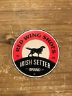 VERY RARE Irish Setter Red Wing work boot sponsor hard hat sticker decal 3