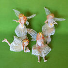 Fairy Garden Playing Music Violin Flute Fairies Set of 4 Dollhouses Home Decor