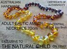 EXCLUSIVE BALTIC AMBER ADULT NECKLACE 70cm RAINBOW Jewellery Beads + FREE POST