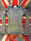 NEW VIVIENNE WESTWOOD VINTAGE GOLD LABEL BOULLE L/S FITTED GREY T-SHIRT XS