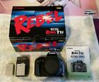 Canon Rebel EOS T1i 500D camera body and accessories in original box