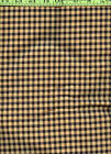 Black Yellow Checks Checked 100 Cotton Flannel Quilt Quilting Fabric