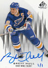 15 16 UD Buyback Brett Hull Sp Game Used Auto 1 1 St. Louis Blues