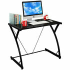 Glass Top Computer Desk PC Laptop Table Writing Study Workstation Home Office