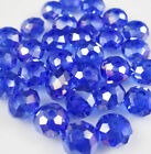 NEW Hot Sale 8mm 35pcs Crystal Rondelle Bicone Faceted Jwelry Beads AB Blue