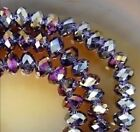 New Hot Sale 8mm 35pcs Crystal Rondelle Bicone Faceted Jwelry Beads AB Purple