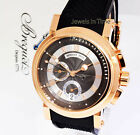 ** Breguet Marine Chronograph 18K Rose Gold Mens Watch Box/Papers 5827 **