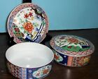 2 IMARI WARE COVERED TRINKET BOXES MATCHING DECORATION FREE U S SHIPPING